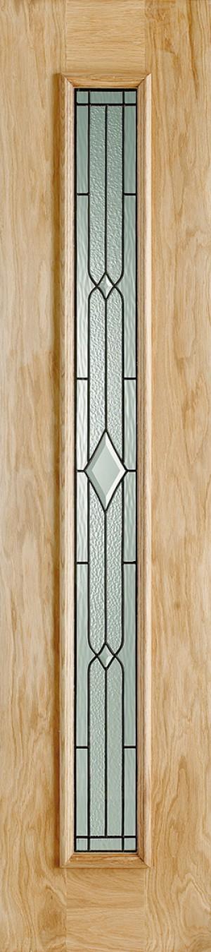 """LPD - External Door - Oak Universal Sidelight Leaded 2057 x 457 (18"""")  OSLL"""