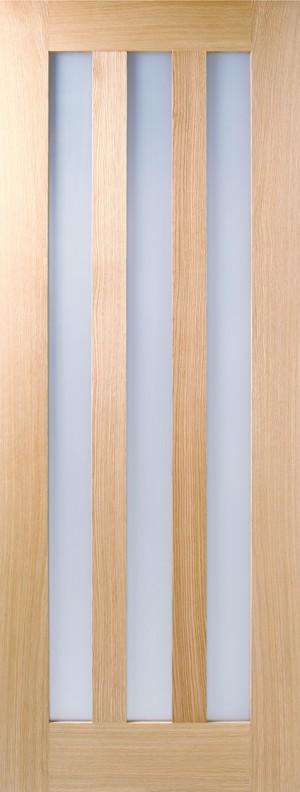 LPD - Internal Door - Oak Utah 3L Clear Glass Pre-finished 2040 x 826 mm  UTAOAKCGPF826