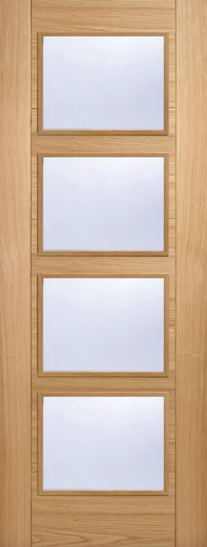 "LPD - Fire Door - Oak Vancouver Glazed 4L 1981 x 686 (27"")  OVAN4LFC27"