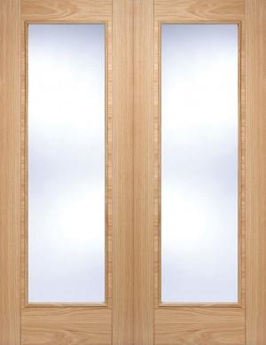 LPD - Internal Door - Oak Vancouver Glazed Pair 1981 x 1067 mm  OPRSVANGL42