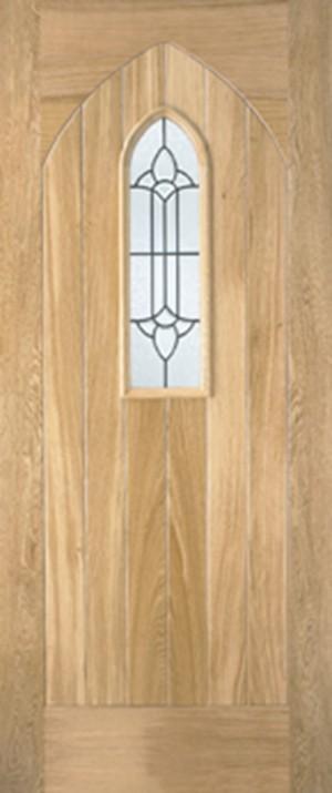 """LPD - External Door - Oak Westminster 2032 x 813 (32"""")  OWESTG32"""