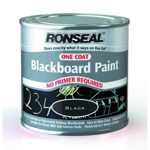 Ronseal One Coat Blackboard Paint 250ml [RONS35227]