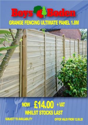 Grange Fencing Ultimate Panel 1.8m