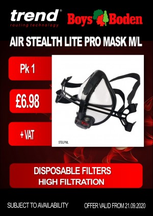 Trend Air Stealth Lite Pro Mask - Pack of 1