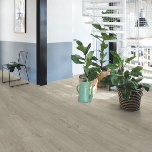 QUICK STEP VINYL FLOORING (LVT) Cotton Oak Warm Grey  PUCL40105
