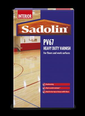 Sadolin PV67 Heavy Duty Varnish Clear Satin 5L  5028742