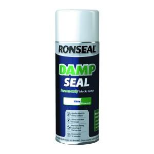Ronseal Quick Drying Damp Seal 400ml Aerosol White [RONS36959]