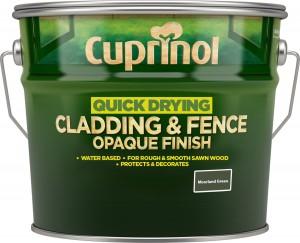 Cuprinol Quick Drying Cladding & Fence Opaque Finish 10L