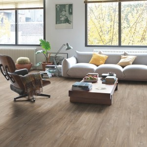 QUICK STEP VINYL FLOORING (LVT) Canyon Oak Dark Brown Saw Cuts  RBACP40059