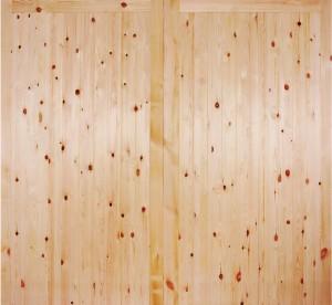 """LPD - External Door - Redwood FL&B Garage Door Pair 1981 x 2135 (84"""")  RGARFLB6670"""