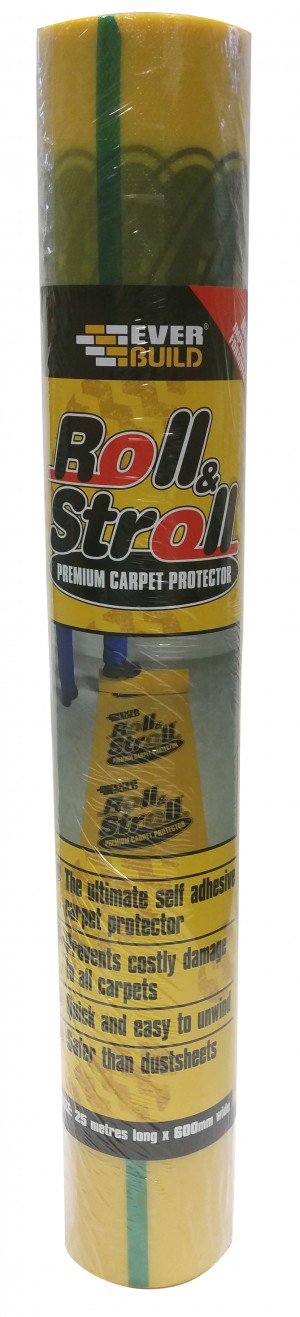 SikaEverbuild Roll & Stroll Carpet Protector 600mm x25m Yellow [EVROLLSTR]