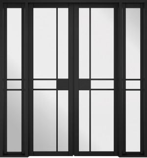 LPD - Internal Door - Room Divider Black Greenwich W6 2031 x 1904 mm  W6GREENWBLA