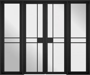 LPD - Internal Door - Room Divider Black Greenwich W8 2031 x 2478 mm  W8GREENWBLA