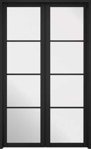LPD - Internal Door - Room Divider Black Soho W4 2031 x 1246 mm  W4SOHOBLA