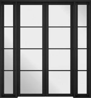 LPD - Internal Door - Room Divider Black Soho W6 2031 x 1904 mm  W6SOHOBLA