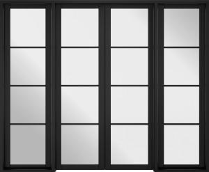 LPD - Internal Door - Room Divider Black Soho W8 2031 x 2478 mm  W8SOHOBLA
