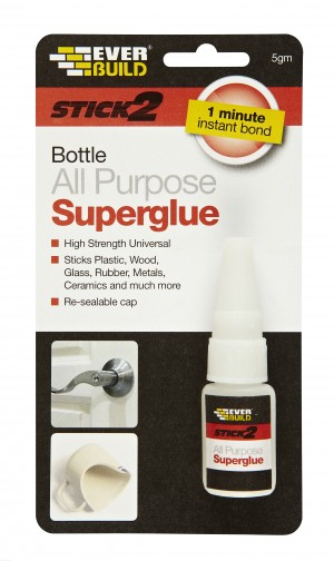 SikaEverbuild Stick2 All Purpose Superglue 5gm Clear [EVBS2SUPBOT05]