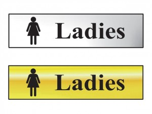 Sign: Ladies Bathroom