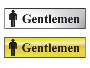 Sign: Gentlemen Bathroom