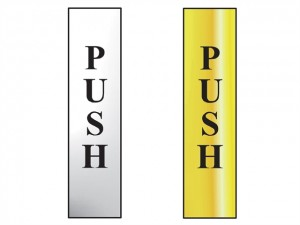 Push Vertical Sign (50 x 200mm)