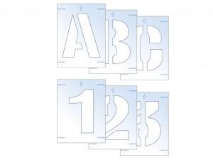 Letter & Number Stencil Kit  SCA9406
