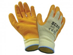 Knit Shell Latex Palm Gloves  SCAGLOKS