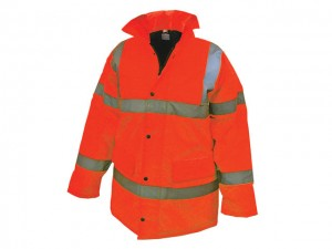 Hi-Vis Motorway Jacket Orange  SCAWWHVMJLO