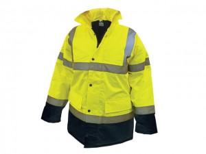 Hi-Vis Motorway Jacket Yellow  SCAWWHVMJMYB