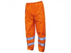 Hi-Vis Motorway Trousers Orange  SCAWWHVMTLO