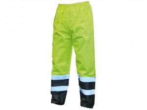 Hi-Vis Motorway Trousers Yellow Black  SCAWWHVMTLYB
