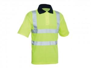 Hi-Vis Yellow Polo Shirt  SCAWWHVPSL