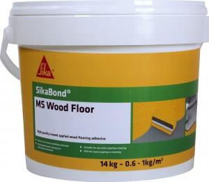 SikaEverbuild SikaBond MS Wood Floor 14kg + Trowel Parquet Brown  [SESKBDMSFL14]
