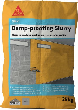 SikaEverbuild Damp Proofing Slurry 25kg Grey [SIK1262825]
