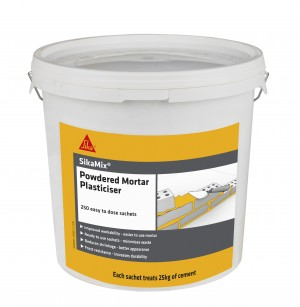 SikaEverbuild SikaMix Powdered Mortar Plasterciser 250 Sachets [SIKPMP250B]