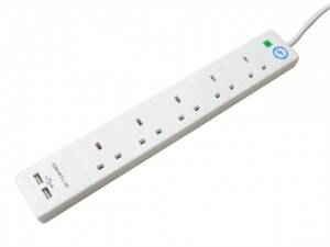 Surge Protection Extension Leads with USB  SMJS5WUSB