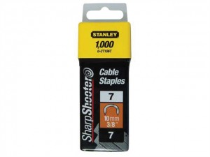 Cable Staples Type 7 CT100 11mm CT107T Pack 1000 - CLE0CT107T