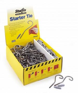 ANCON - STAIFIX STARTER SCREW TIE-S/STEEL C/W PLUG Bx100  IDFWTCD