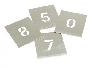 Zinc Stencil - Numbers  STNF1