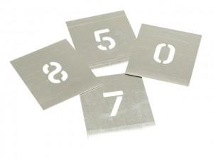Zinc Stencil - Numbers