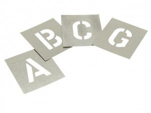 Zinc Stencil - Letters