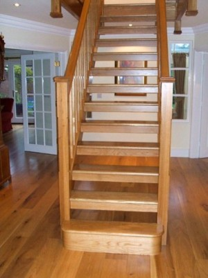 Pear Stairs - The Stretton White Oak Straight Staircase (116)