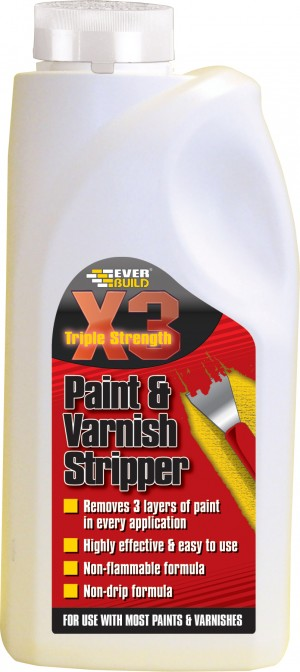 SikaEverbuild X3 Paint & Varnish Stripper 500ml [EVBSTRIPX05]