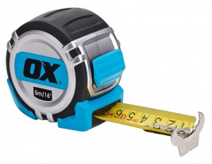 OX TOOLS - OX Pro Metric Imperial Tape Measure 5Mtr