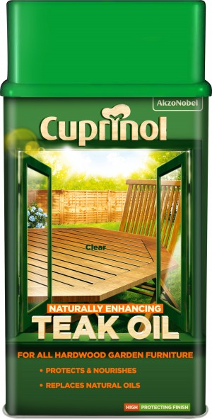 Cuprinol Natural Enhancing Garden Furniture Teak Oil 1L Clear