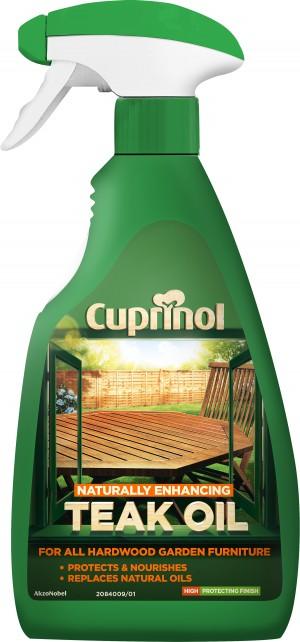 Cuprinol Natural Enhancing Garden Furniture Teak Oil 500ml Spray Clear