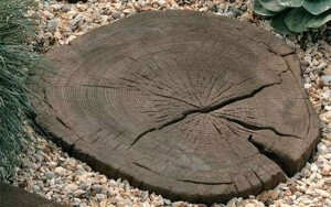 STONEMARKET PAVING SLABS -  Timberstone Log Garden Stepping Stones