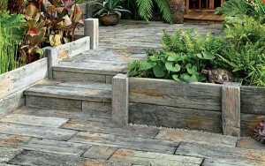 STONEMARKET PAVING SLABS -  Timberstone Posts And Sleepers For Planters And Raised Beds