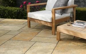 STONEMARKET PAVING SLABS -  Trustone Cotsdale Buff Brown Limestone Garden Paving