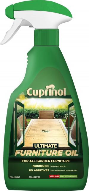 Cuprinol Ultimate Furniture Oil 500ml Spray Clear