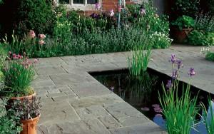 STONEMARKET PAVING SLABS -  Vintage Stone Raven Brown to Black Garden Paving